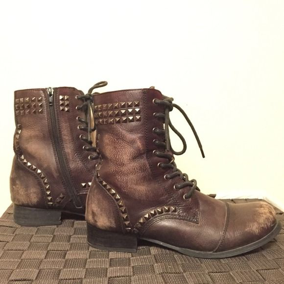 Miz Mooz Boots - Studded combat boots