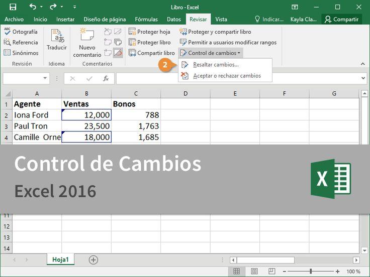 Cursos Gratis - Microsoft Excel 2016 - Experto en Control de Cambios en 2 Minutos.