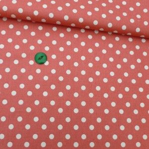 Salmon Pink Polka Dot - will be added to our new line of Coral and Floral Hire Bunting at http://www.thevintagebuntinghirecompany.com