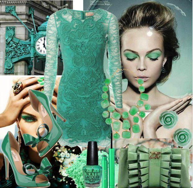 Wasze zielone stylizacje - Dalia!  :).  Do #konkursu na #najlepsza #stylizacja zaprasza www.big-active! Zjawiskowa kompozycja w najpiękniejszych odcieniach zieleni!