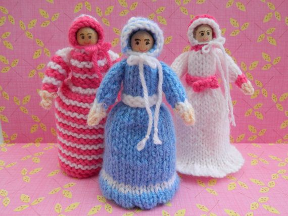 Doll Knitting Pattern/ Knitted Doll/ Toy by EdithGraceDesigns