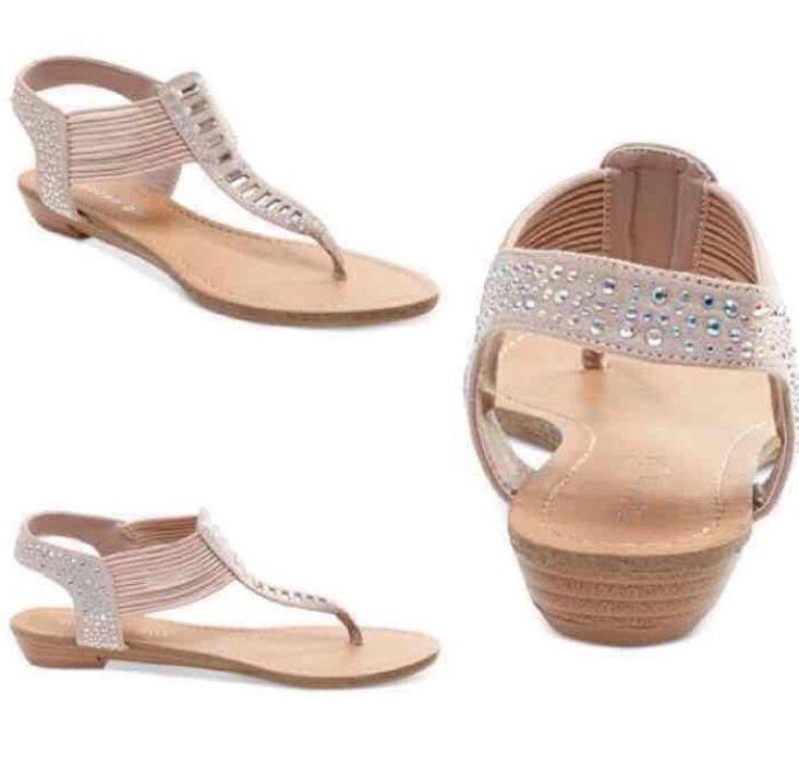 ⭐NEW⭐Madden Girl T-Strap Thong Sandal w/ Rhinestone EmbelIishment Size: Sell  StuffSell ThingsGirls SandalsStrap SandalsSteve ...