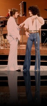 Dick Clark interviews Gino Vannelli on American Bandstand.