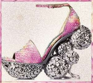 These are so female!!  Glittery and Pink!
