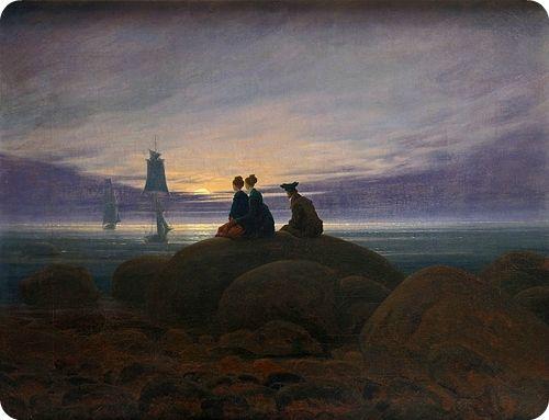"""Moonrise by the Sea"" | CASPAR DAVID FRIEDRICH."