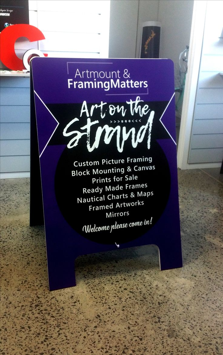 Footpath sign for Artmount and Framing Matters by Speedy Signs Newton