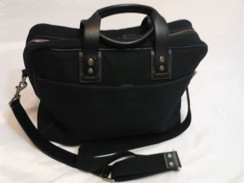 Coach Briefcase Business Bag Messenger Bag Shoulder Bag in Black
