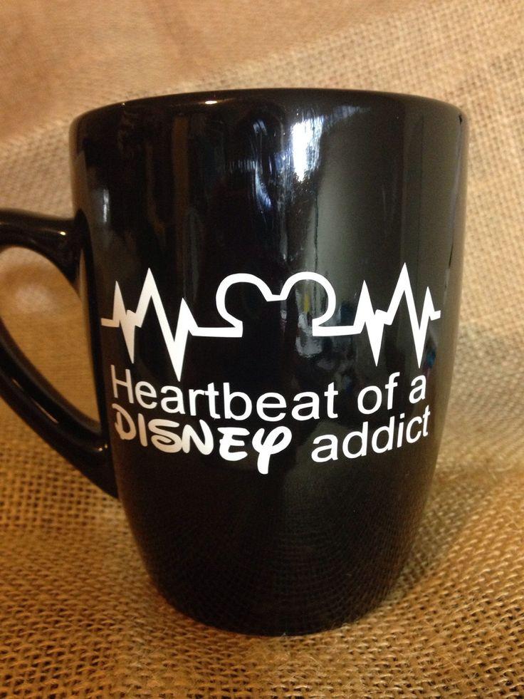 Heartbeat of a disney addict Custom Coffee mug. by LittleOnceBoutique on Etsy https://www.etsy.com/listing/216505698/heartbeat-of-a-disney-addict-custom
