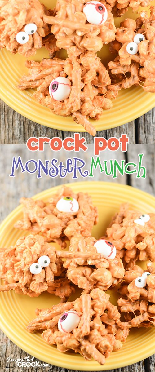 Crock Pot Monster Munch: Are you looking for a great treat to make with your…