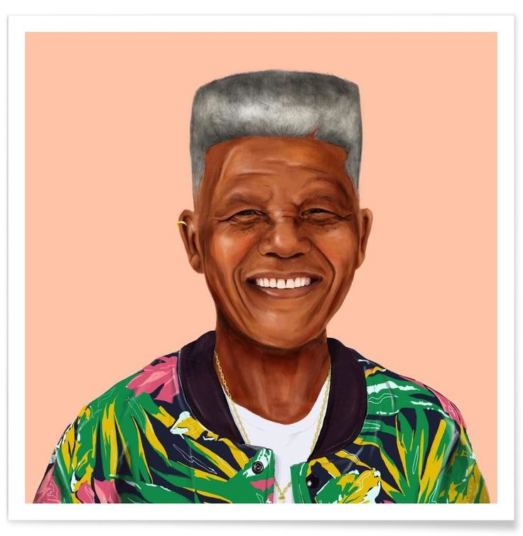 Mandela VON Amit Shimoni Illustration now on JUNIQE!