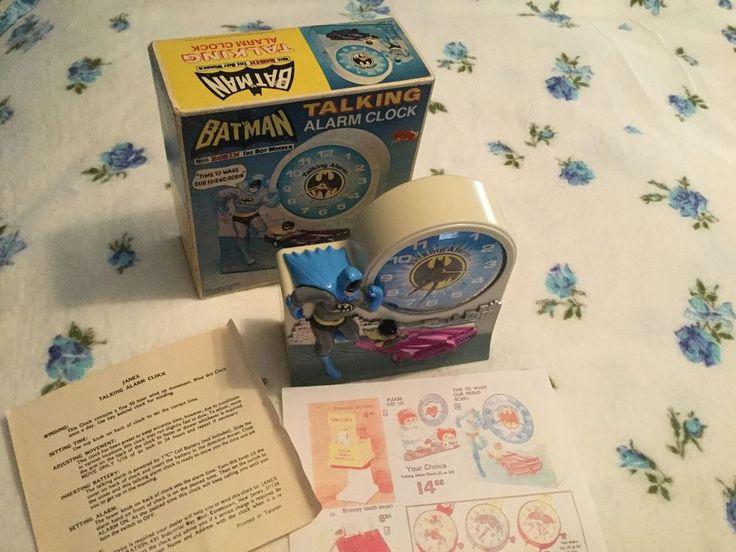 Original 1974 Batman & Robin Janex Talking Alarm Clock w/Box,Fully Functional.