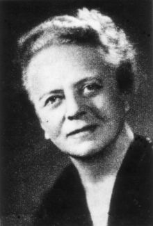 Ida Noddack (25 February 1896 – 29 October 1978), née Ida Tacke, was a German chemist and physicist. She was the first to mention the idea of nuclear fission in 1934. With her husband Walter Noddack she discovered element 75, rhenium. She was nominated three times for the Nobel Prize in Chemistry.