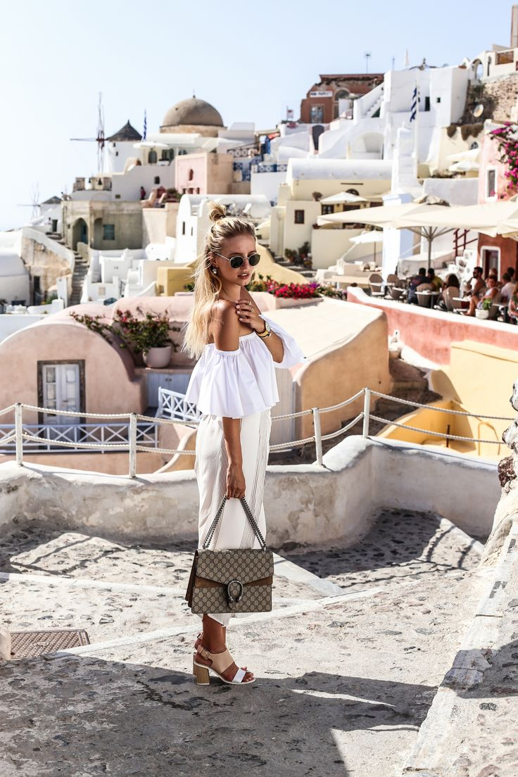 NUDE SHADES & GUCCI EARRINGS | SANTORINI ohh couture waysify