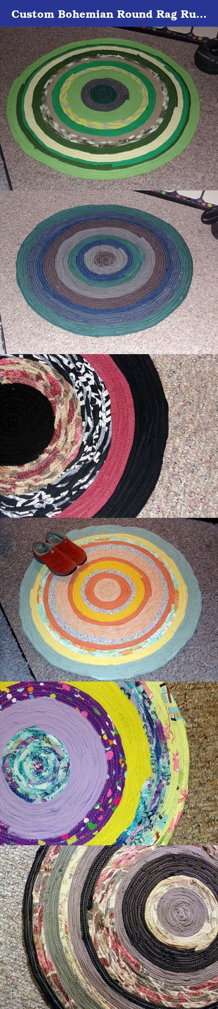 Custom Bohemian Round Rag Rug, Any Color, Circle Rug, Gypsy Round Wall Hanging, Mandala Rug Art, Round Braided Rug, Upcycled Rug Floor Covering. Round Rag Rug, Round Wall Hanging, Mandala Rug Wall Art, Round Braid Rug, Upcycled Clothing Rug Carpet Floor Covering This mandala style bohemian rug custom in any colors you choose and diameter up to 5 feet. Perfect size for large mandala wall art or a great throw rug. Round Rugd made in the rag rug/braided rug fashion. Sturdy sewn circular...