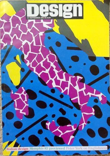Memphis-Milano graphics on cover of Design Magazine 1983.