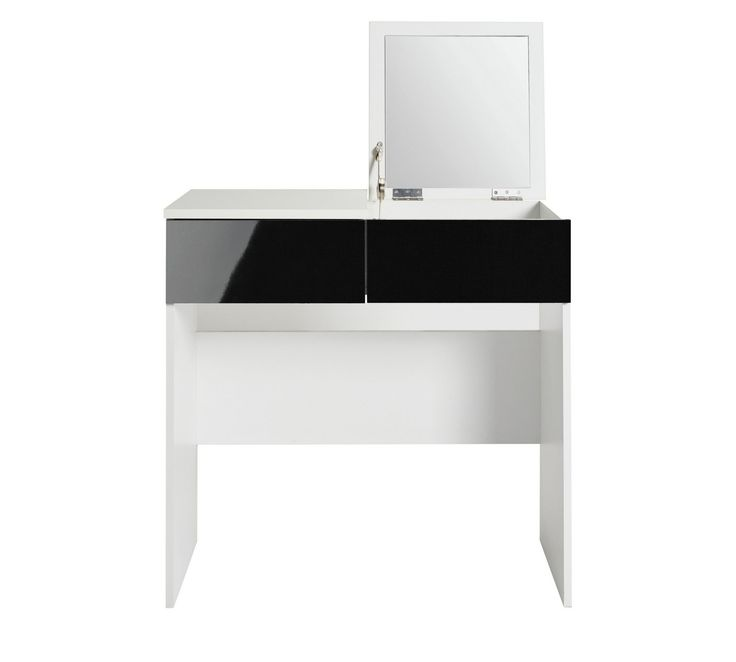 Buy HOME Malibu Dressing Table with Mirror - Black Gloss & White at Argos.co.uk, visit Argos.co.uk to shop online for Dressing tables, Bedroom furniture, Home and garden