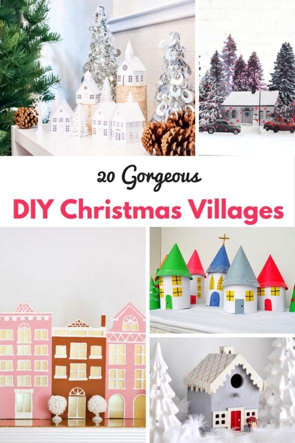 Best 25 diy christmas village displays ideas on pinterest 20 diy christmas villages solutioingenieria Choice Image