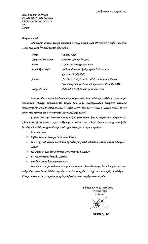 Contoh Surat Lamaran Kerja Atas Inisiatif Sendiri Merry Ccc Cute766