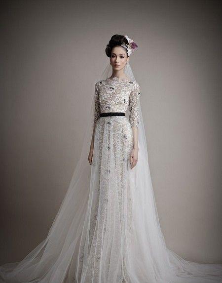 женственные свадебные платья 2015