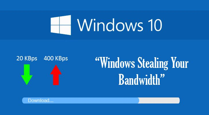 Windows 10 is stealing users' bandwidth by default. Learn how to disable It