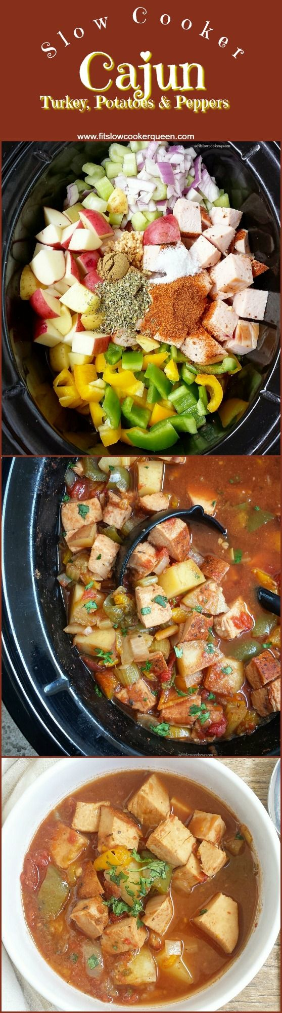 Cajun turkey breast along with peppers, potatoes, and simple seasonings are all you need for this healthy one-pot slow cooker recipe. Jennie-O switchcircle