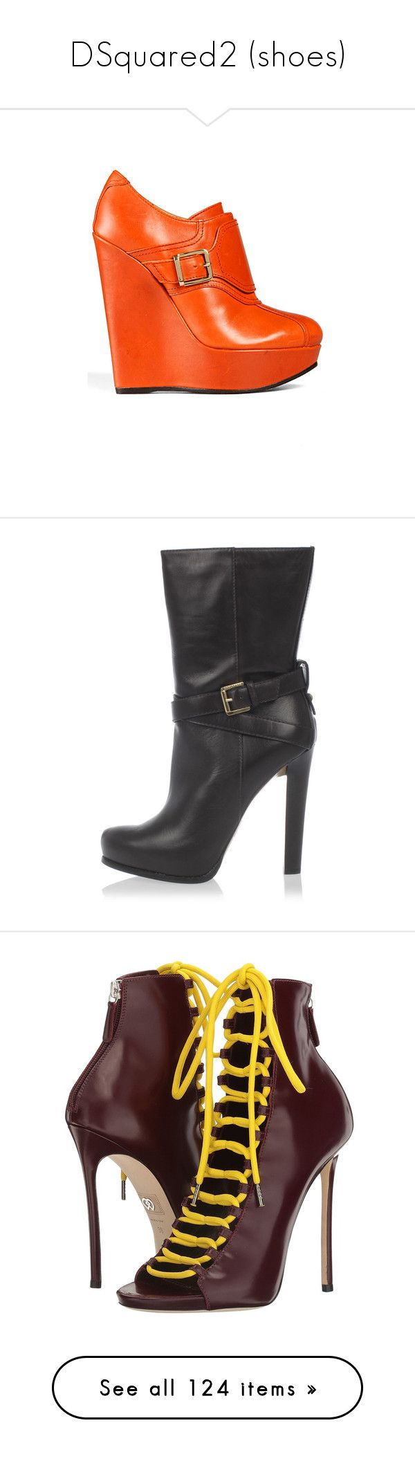 """""""DSquared2 (shoes)"""" by missy-smallen ❤ liked on Polyvore featuring shoes, sandals, red, leather clogs, wooden clogs shoes, red clogs, wood sandals, wooden sandals, boots and ankle booties"""