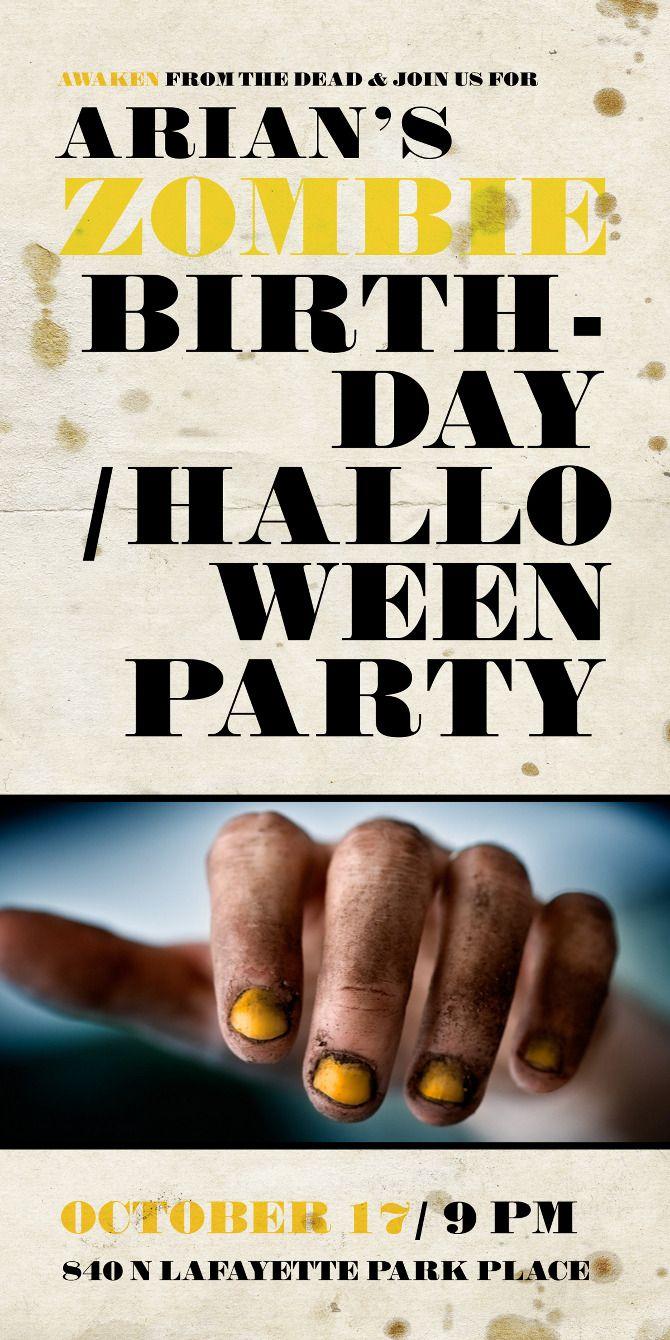99 best Zombie Birthday images on Pinterest