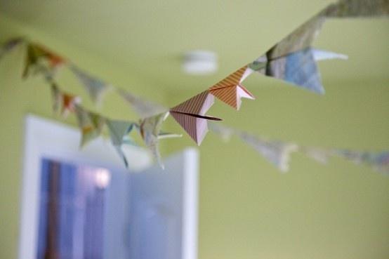 paper airplane garland