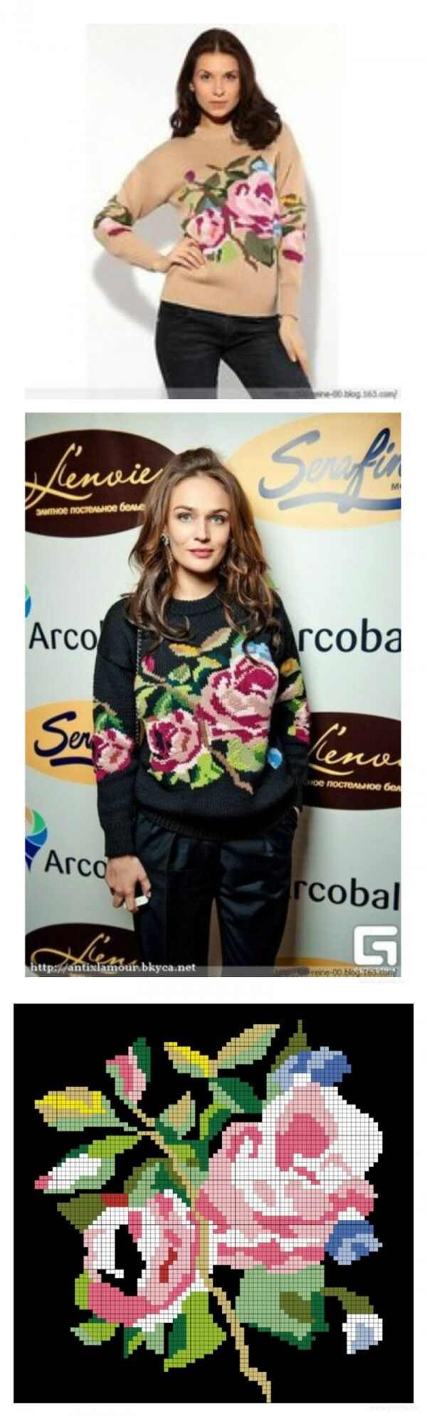 Roses sweater.