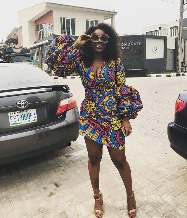 stylish casual ankara gown style with bell sleeves of 2018