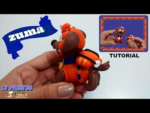 PATRULHA CANINA( ZUMA )TUTORIAL- BISCUIT- PORCELANA FRIA - YouTube