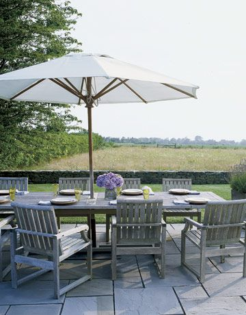 """""""We sited the house very carefully to capture the light. We see the most beautiful sunsets from the family room and the back terrace.""""   - CountryLiving.com"""