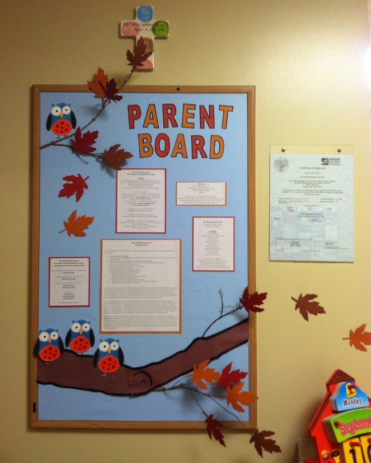 Fun three-dimensional parent board for fall...