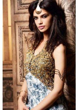 off white couleur Banarasi costume Anarkali de soie, - 134,00 €, #RobeBollywoodPasCher #RobeIndou #TenueBollywood #Shopkund