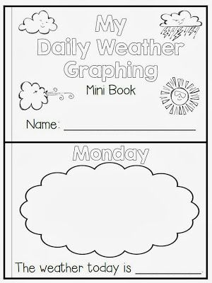 Flying into First Grade - Mini weather book freebie
