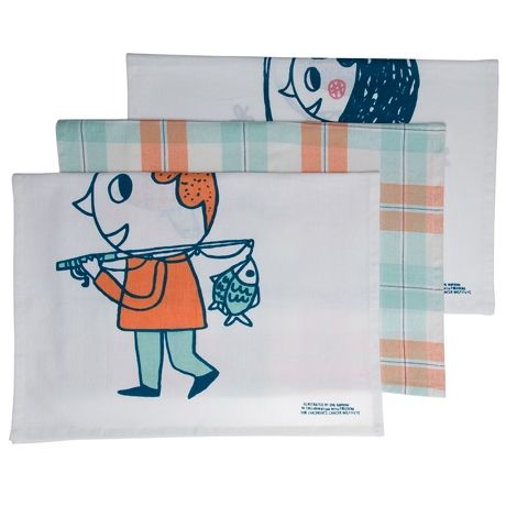 Dreamers Tea Towels Set of 3 - For CCI  Multi