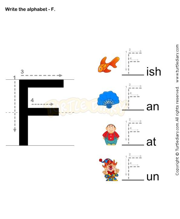 Letter Writing F - esl-efl Worksheets - preschool Worksheets