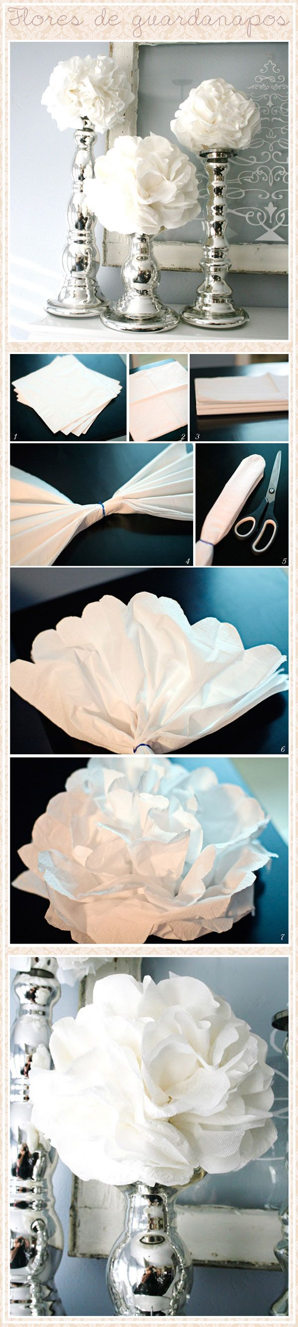 Paper flower pompom