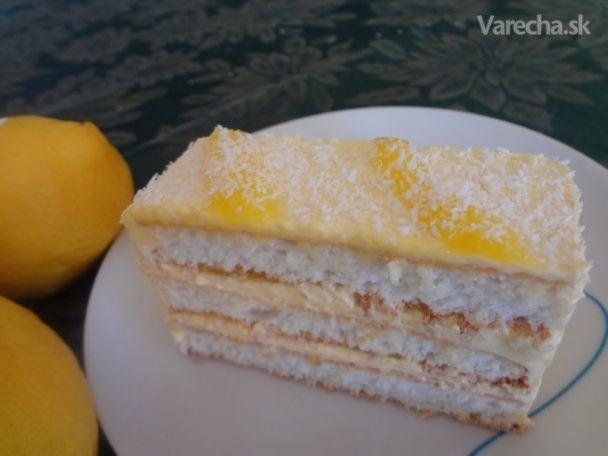 Kokosové rezy s citrónovou plnkou (fotorecept) - Recept