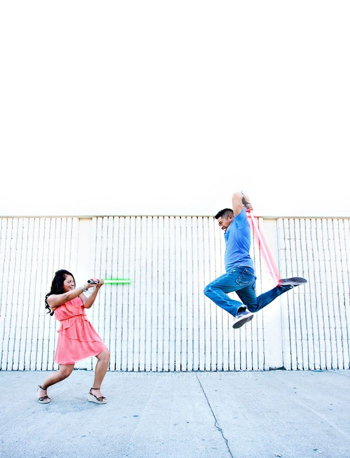 10 cute themed engagements // Star Wars themed engagment session in San Diego