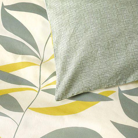 Buy John Lewis Scandi Lina Leaf Duvet Cover and Pillowcase Set Online at johnlewis.com
