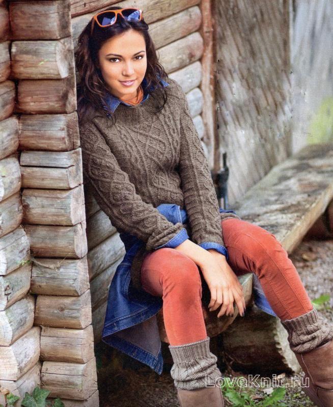 Схема спицами женский свитер реглан