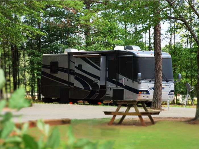 All RV sites offer a concrete patio and full hook-ups including 20/30/50 amp power, as well as dedicated side parking for your chase vehicle.