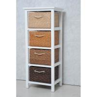 petit meuble rangement meuble bois blanc 4 paniers