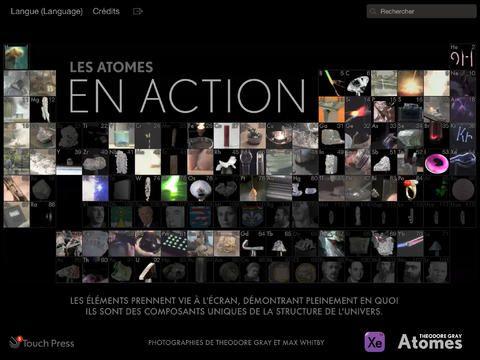 Choisissez parmi les vidéos de tous les éléments du tableau périodique en action, accompagnées d'une explication sur leurs fonctions.