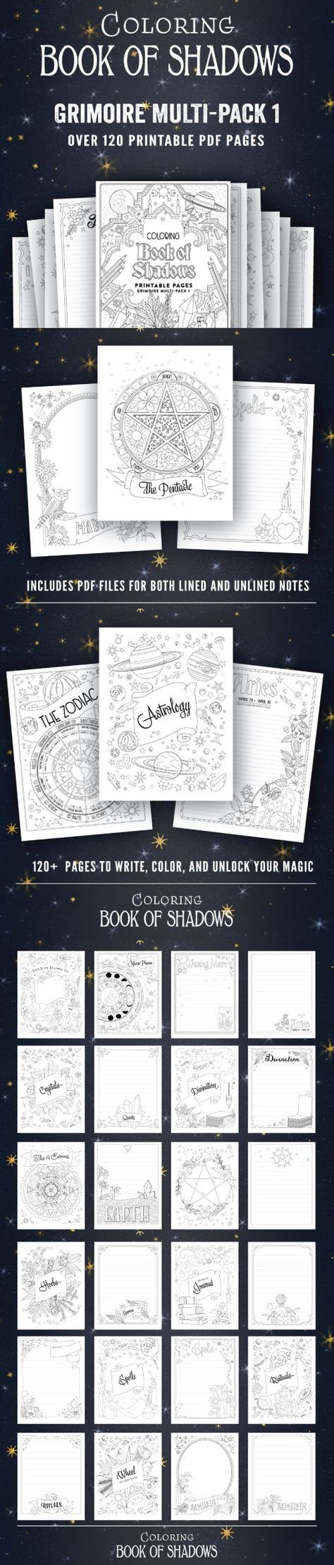 coloring book of shadows pdf - Books To Color