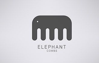 My first impression was 'this is cute', and then I was surprised that the elephant is actually a comb. It's just very cool how one shape can interpret two different things, an elephant and a comb.