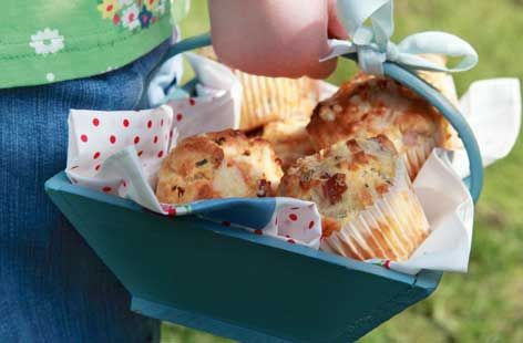 Cheese and ham muffins: baking in Ireland