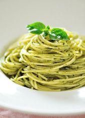 Zuchinni Pasta w/ Raw Pesto Sauce