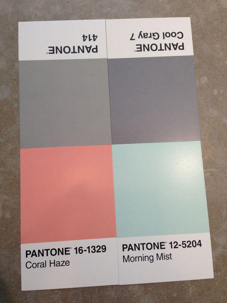 Grey, coral and aqua paint inspiration